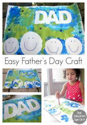 Easy Fathers Day Craft for Kids  300x428 Show and Share Saturday Link Up!