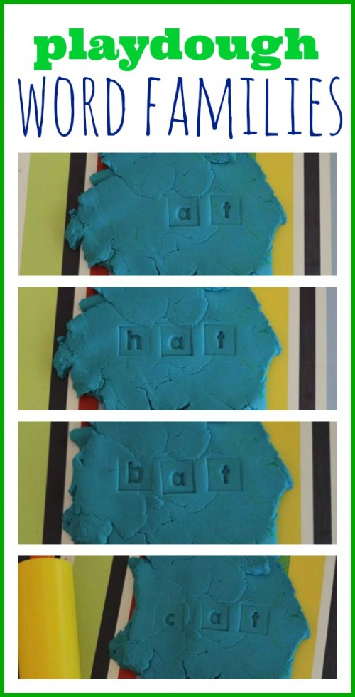 Playdough Word Families 500x980 Playdough & Alphabet Stamps