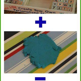 Playdough & Alphabet Stamps