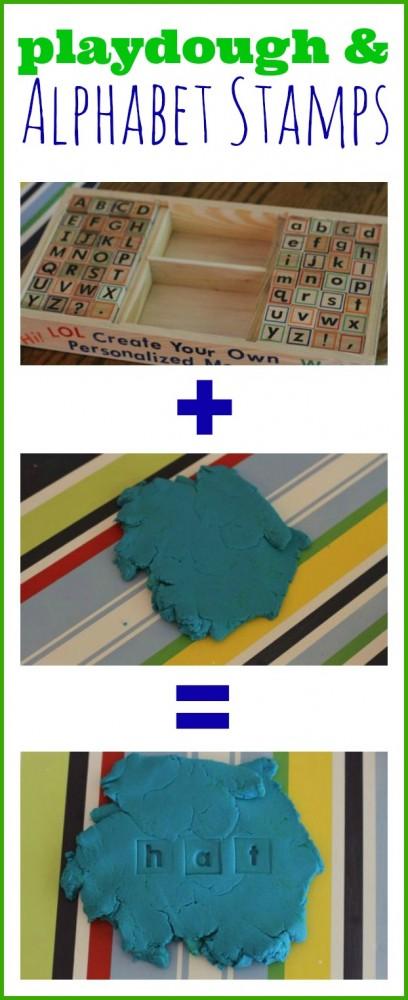 Playdough and Alphabet Stamps