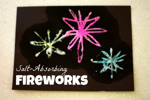 Salt Absorbing Fireworks Fourth of July Crafts and Activities