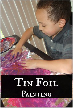 Tin Foil Painting Show and Share Saturday Link Up!