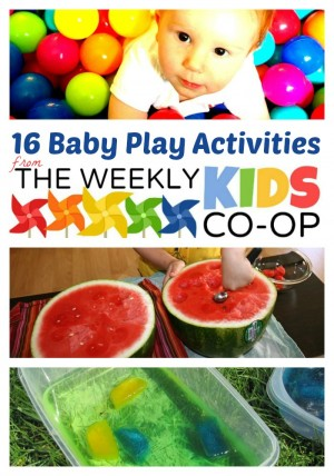 16 Fun Activities for Babies and Toddlers at WeeklyKidsCoOp 300x428 Show and Share Saturday Link Up!