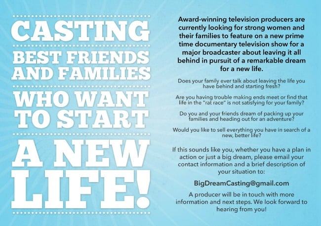 BigDreamCasting2 Big Dream Television Casting Call