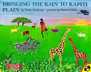 Bringing the Rain to Kapiti Plain Aardema Verna 9780140546163 300x238 Make a Rain Stick
