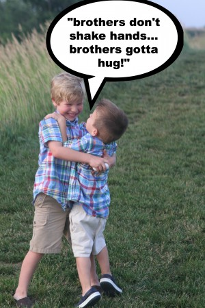Brothers dont shake hands 300x450 Funny Captioned Photo Contest
