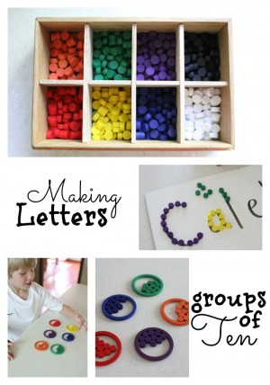 Making Letters & Groups of Ten