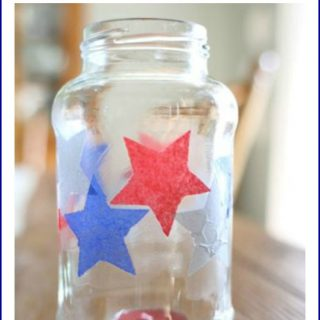 Simple Fourth of July Candle Holder