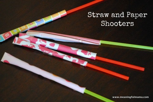 Straw Paper Shooters 500x335 Show and Share Saturday Link Up!