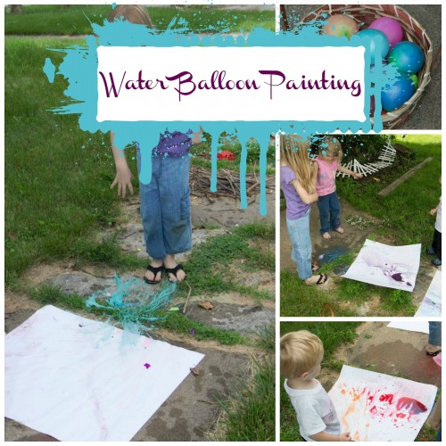 Waterballoonpainting 500x500 Show and Share Saturday Link Up!