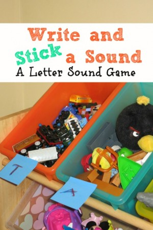 Write and Stick a Sound-A Letter Sound Game