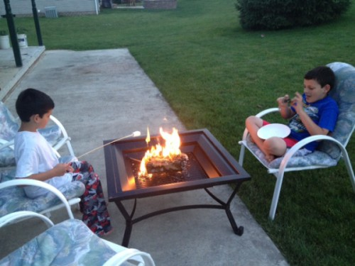 roasting marshmallows 500x375 5 Ideas for Free Summer Play