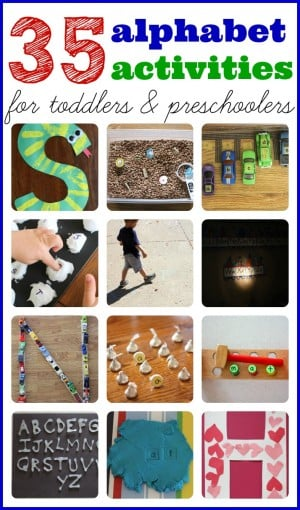 35+ Alphabet Activities for Toddlers Preschoolers 300x510 Show and Share Saturday Link Up!