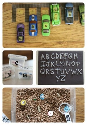Alphabet Activities for Toddlers Preschoolers 2 300x428 35+ Alphabet Activities for Toddlers & Preschoolers