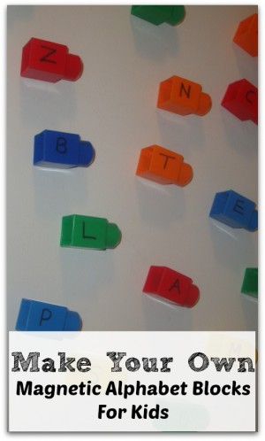 DIY Magnetic Alphabet Blocks 300x498 Show and Share Saturday Link Up!