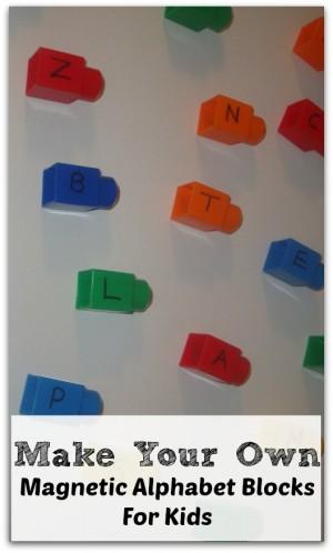 DIY Magnetic Alphabet Blocks