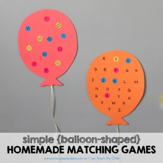 Simple Balloon-Shaped Homemade Matching Games