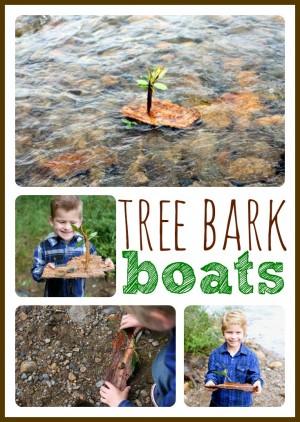 Simple Tree Bark Boats