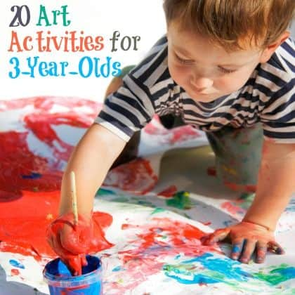 20 Art Activities for 2-year olds