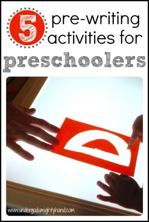 5 Pre Writing Activities for Preschoolers 300x447 Five Pre Writing Activities for Preschoolers