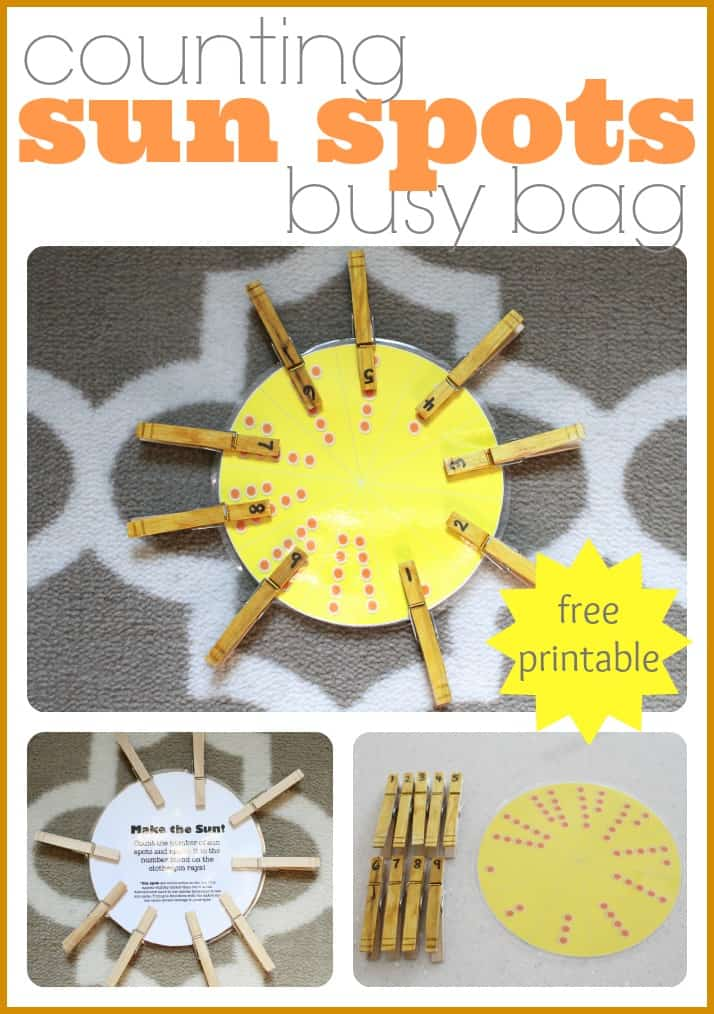 Counting Sun Spots Busy Bag