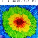Crayon Painting 150x150 Show and Share Saturday Link Up!