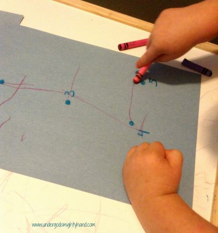 Dot to dots for prewriting skills