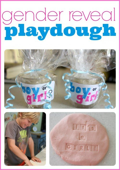 Gender Reveal Playdough