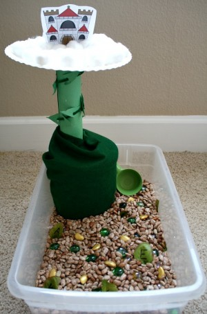 Jack and the Bean Stalk Pretend Play and Sensory Bin 300x453 Show and Share Saturday Link Up!