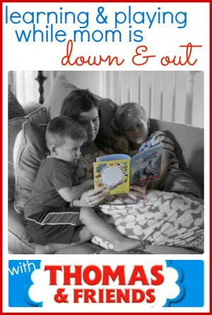 Learning and Playing while Mom is Down and Out