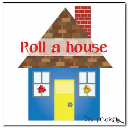 Roll-a-House Printable Math Game