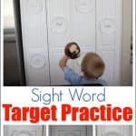sight word target practice 150x150 DIY Motor Activities