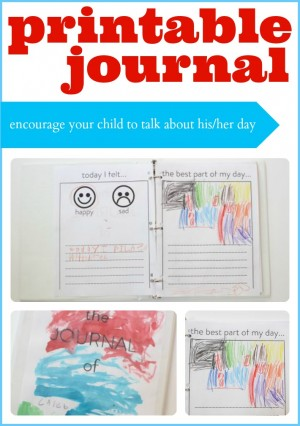 Printable Journal 300x426 Printable Journal for Kids (Get Your Child to Communicate with You)