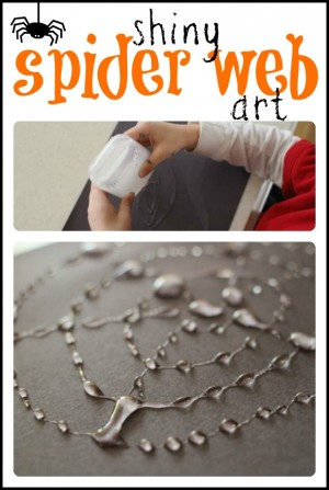 Shiny Spider Web Art