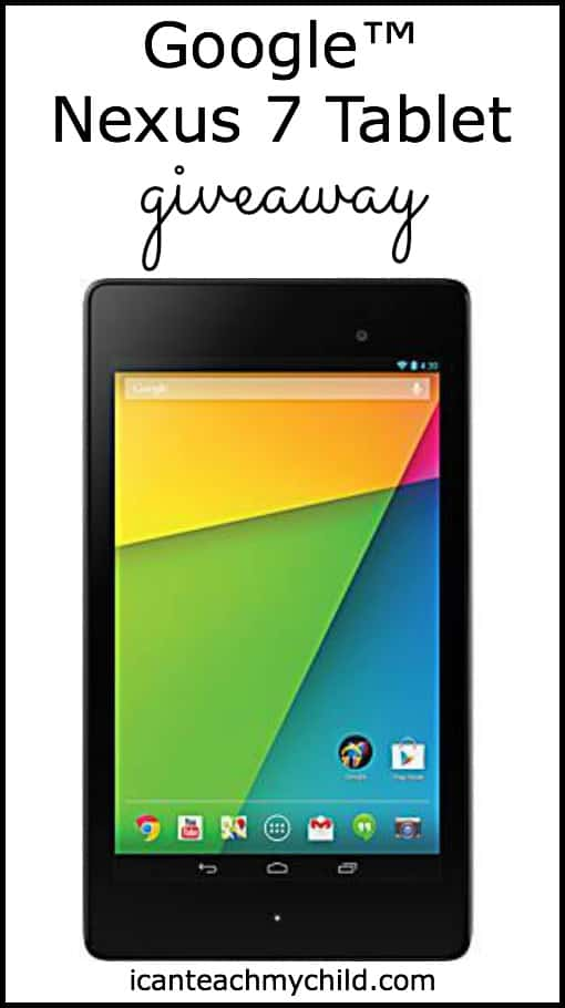 Google™ Nexus 7 Tablet:  Review & Giveaway