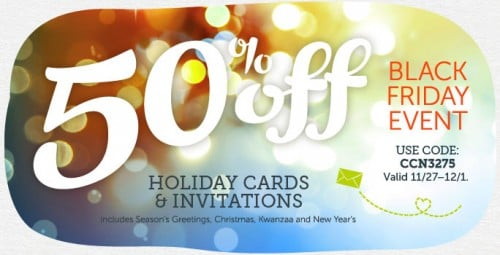 Christmas Cards 500x255 Black Friday Deals