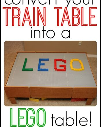 Make A DIY LEGO Table From A Train Table