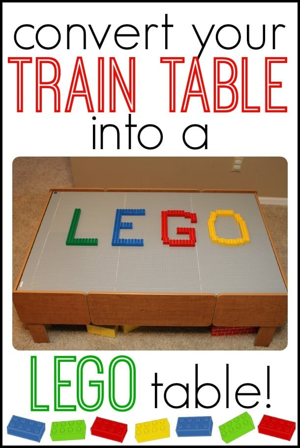 Convert Your Train Table into a DIY LEGO table