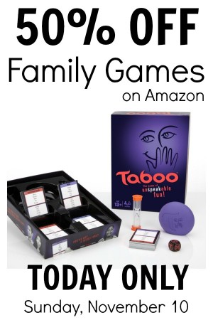 Half-Off Board Games on Amazon