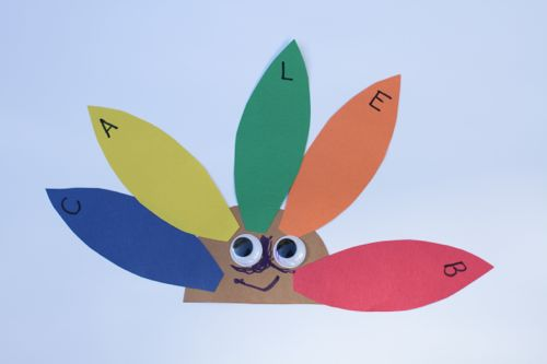 IMG 4080 Alphabet Turkeys:  Match Capital and Lowercase Letters