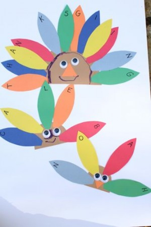 IMG 4084 300x450 Alphabet Turkeys:  Match Capital and Lowercase Letters