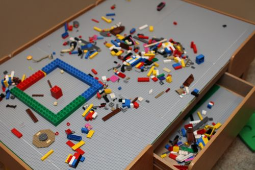 This Is My Favorite Featureu2026just Clear Off All The Extra LEGOs Into The  Drawer!