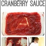 Making Letters in Cranberry Sauce 150x150 One is a Feast for Mouse Read Aloud & Relay