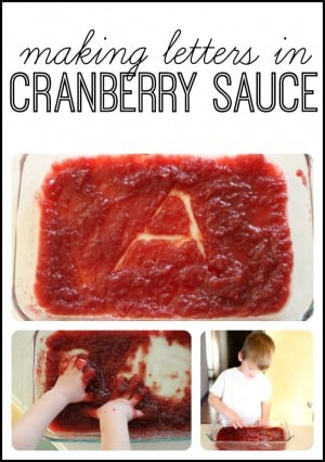 Making Letters in Cranberry Sauce