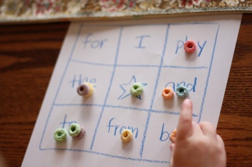 Word list for kids to learn
