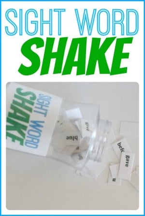 Sight Word Shake