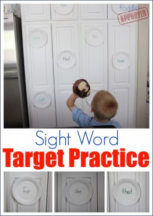 Sight Word Target Practice 300x425 Sight Word Activities for Kids