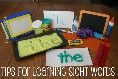 Tips for Learning Sight Words