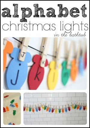 Alphabet Christmas Lights Match capital and lowercase letters 300x426 Hanging Alphabet Christmas Lights