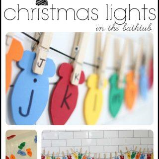 Hanging Alphabet Christmas Lights